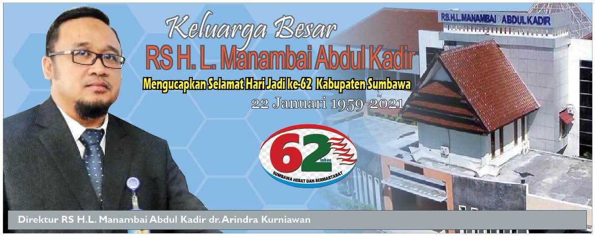 Keluarga Besar RS H.L Manambai Abdul Kadir Mengucapkan Selamat Hari Jadi Kabupaten Sumbawa ke – 62