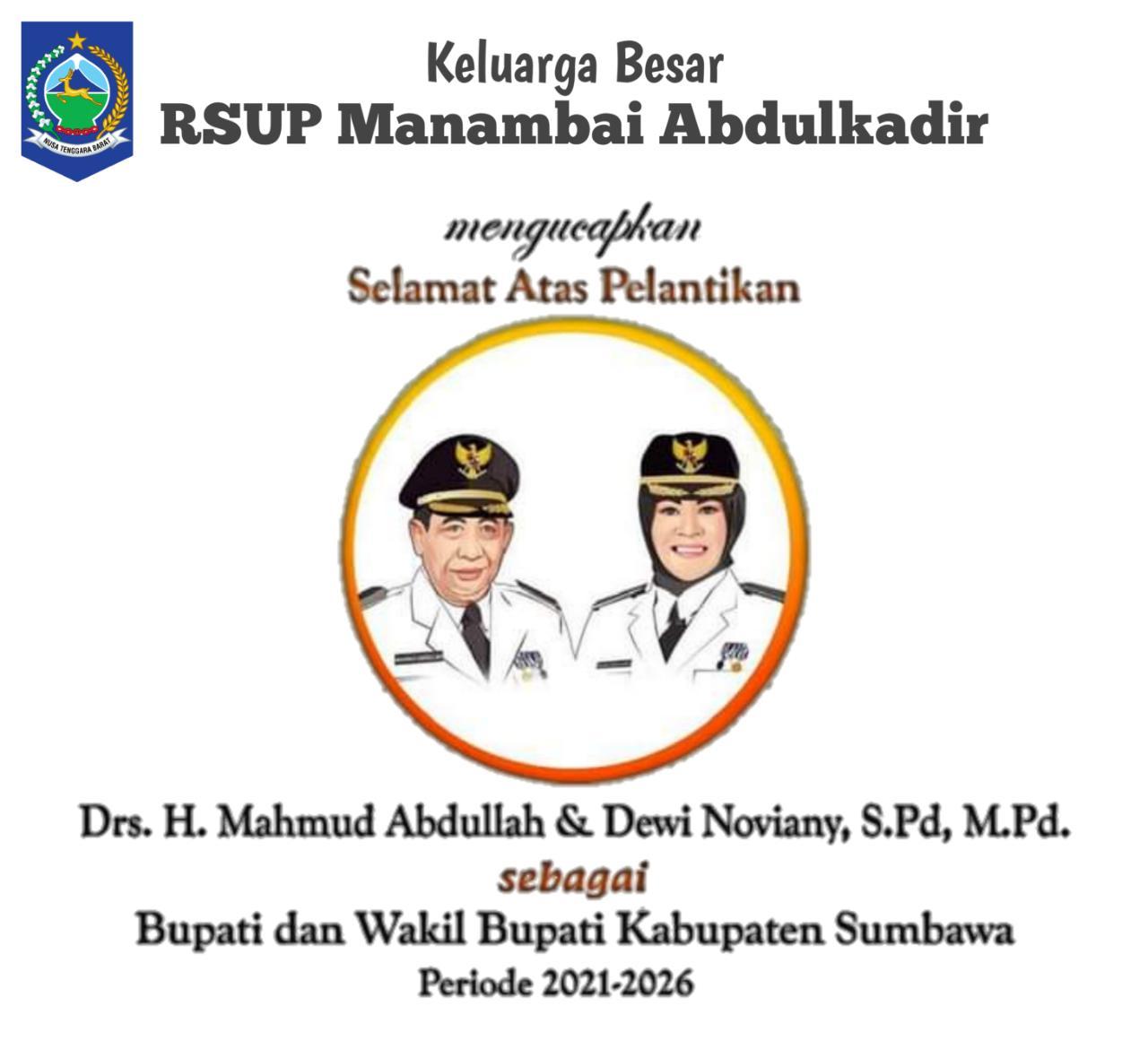 Ucapan Selamat Pelantikan dari Keluarga Besar RSUP Manambai Abdul Kadir