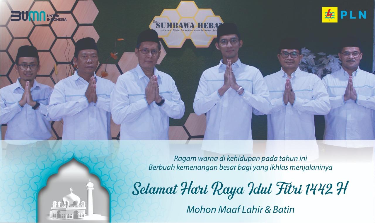 Ucapan Selamat Idul Fitri 1442 H PT PLN Area Sumbawa