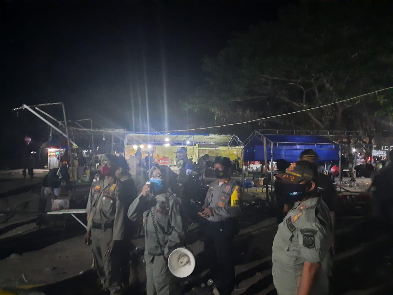 Pasar Malam di Kerato Dibubarkan Aparat Gabungan