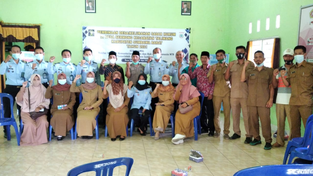Kanwil Kemenkumham NTB Bina Desa/Kelurahan Sadar Hukum di KSB