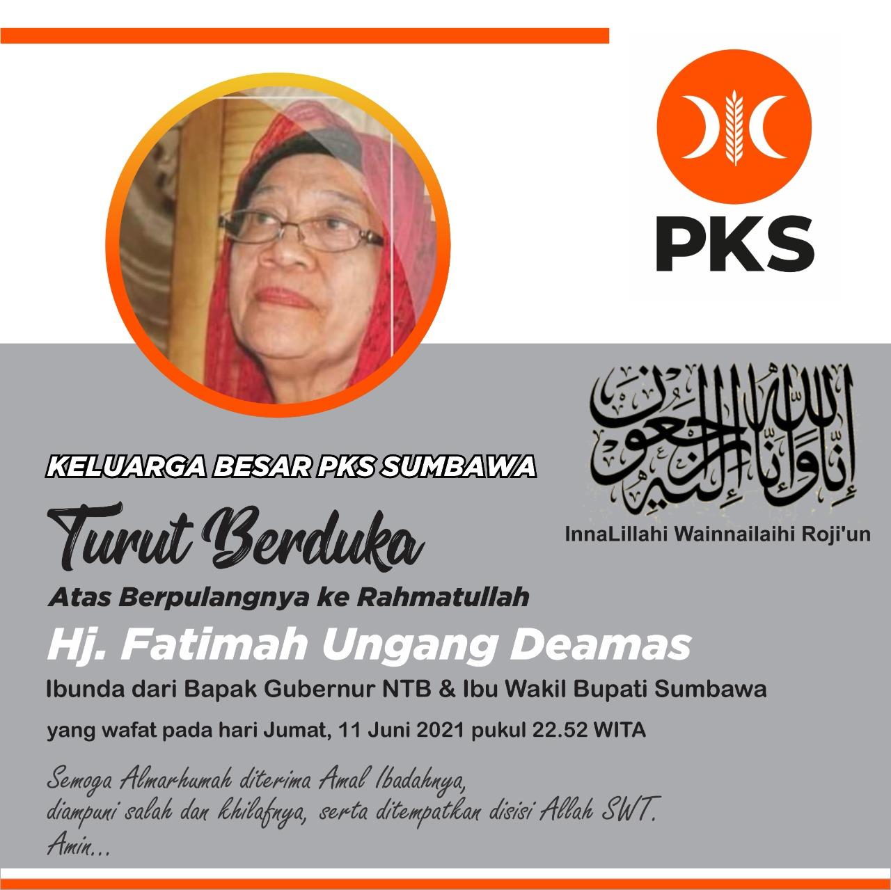 Keluarga Besar PKS Sumbawa Berduka