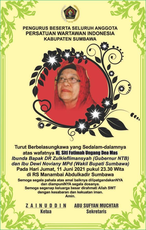 Duka Cita PWI Kabupaten Sumbawa