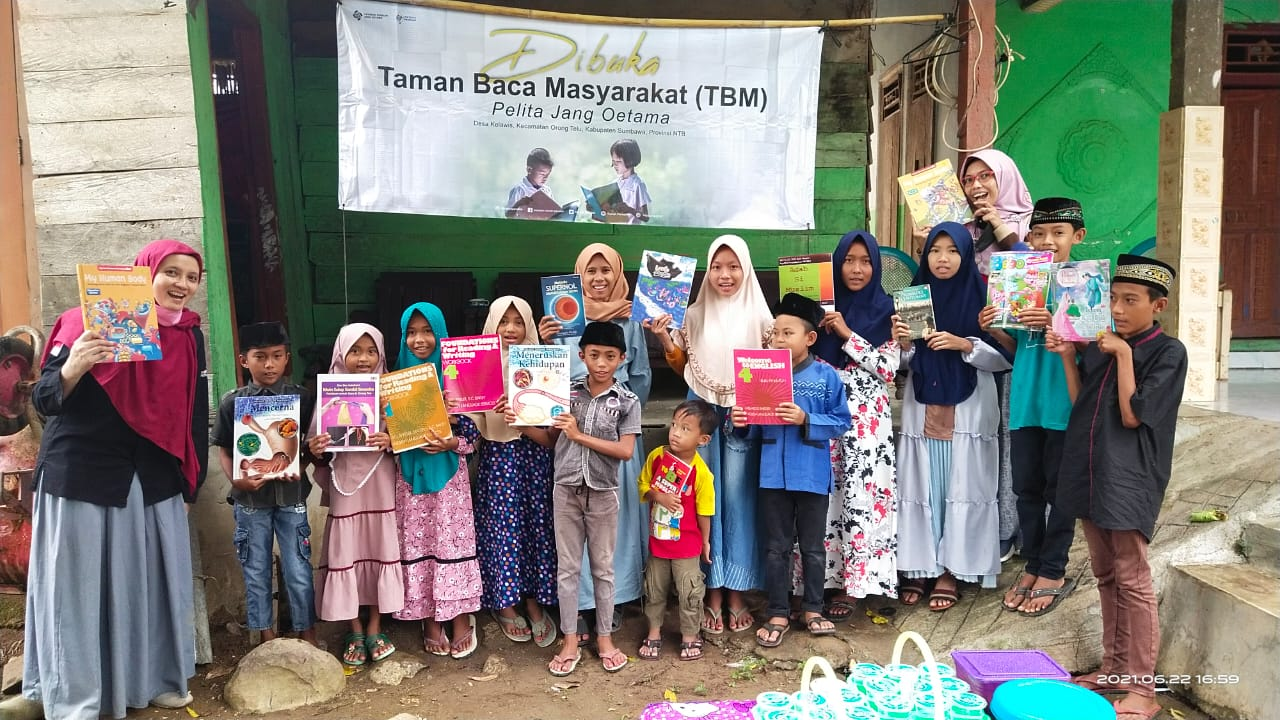 Wujudkan Generasi Cerdas, YPJO  Bangun TBM di Orong Telu