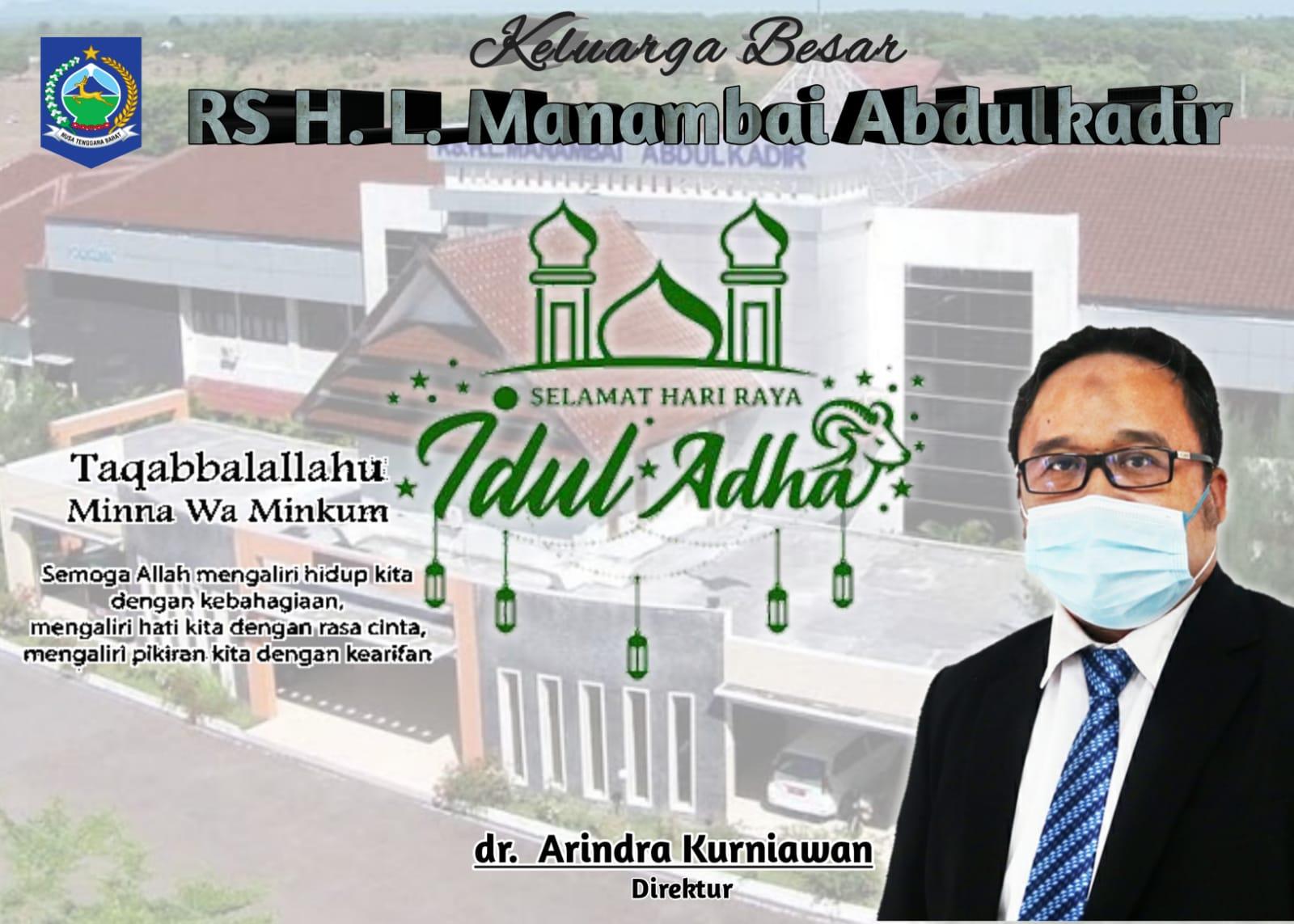 Keluarga Besar RS H.L Manambai Abdul Kadir Mengucapkan Selamat Hari Raya Idul Adha 1442 H